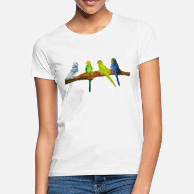 Malerei Wellensittiche - Frauen T-Shirt