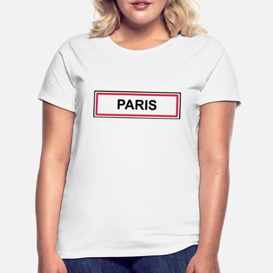 Tee-shirt femme paris col en V personnalisable  réf 04