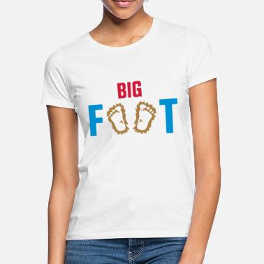 Big Foot Big Foot - FOOTPRINTS - T-skjorte for kvinner