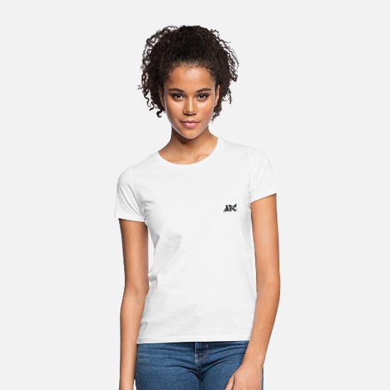 Small T-Shirts - ABC graffiti - Women's T-Shirt white