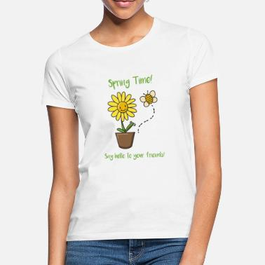 Children Bee and flower spring gift idea flowers sweet - Women's T-Shirt