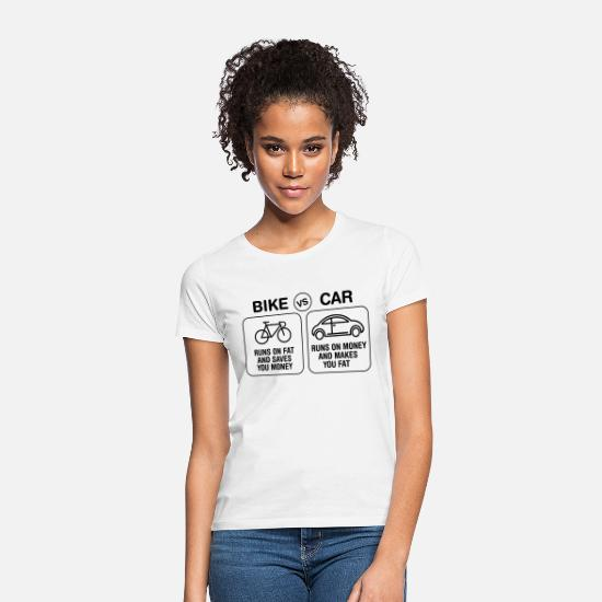 Cycling T-Shirts - Bike VS Car - Women's T-Shirt white