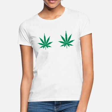 Leaf Cheeky Funny Weed T-Shirt - Women's T-Shirt