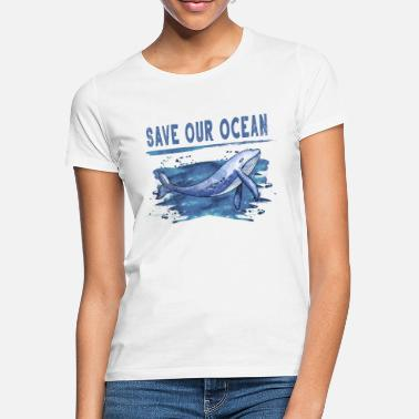 Ocean Whale vintage | Sea | Ocean | environmental Protection - Women's T-Shirt