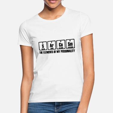 d3ab39066 Sarcasmo tabla periódica química química regalo. - Camiseta mujer