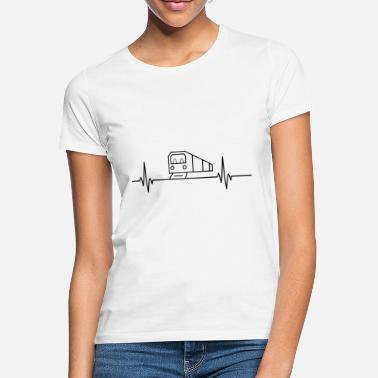 Humorous Sayings Subway heartbeat pulse metro train lover - Women's T-Shirt