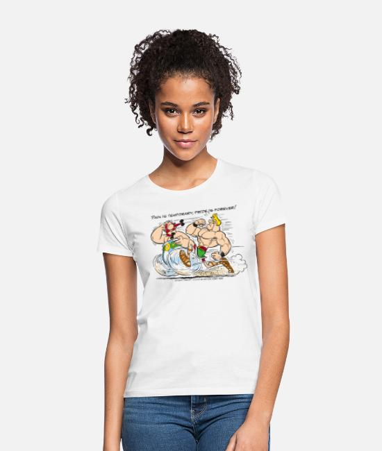 Competition T-Shirts - Asterix & Obelix - Pain is temporary - Women's T-Shirt white