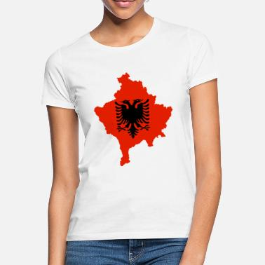 Kosovo Kosovo with flag of Albania svg - Frauen T-Shirt