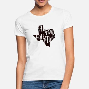 Countrymusic flyover country black - Women's T-Shirt