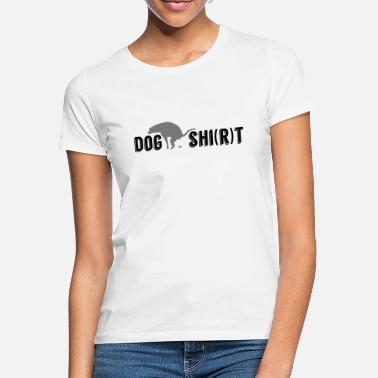 Pooping DOG SHI (R) T Pooping shit dog dogshit - Women's T-Shirt