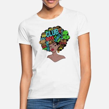 Afro Afro Retro Disco 70s Shirt - Frauen T-Shirt