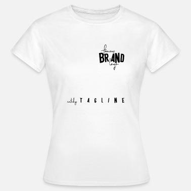 Famous Brand Logo Catchy Tagline Beruhmt Fake Frauen Premium T Shirt