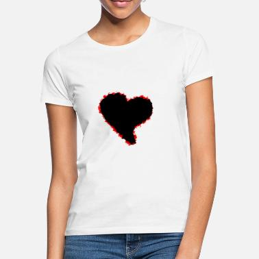 Black Heart Heart / black red heart - Women's T-Shirt