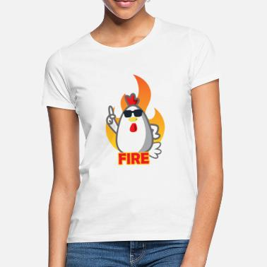 Kerst Vuurhaan China Fried Chicken - Vrouwen T-shirt