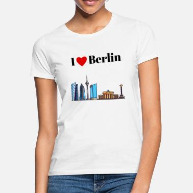 Brandenburg Gate I Love Berlin - Skyline Retro Style - Women's T-Shirt