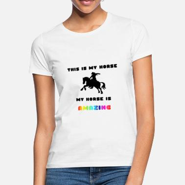 the amazing horse - Frauen T-Shirt