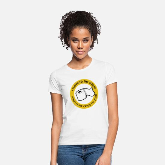Corona T-shirts - I Survived The Great Toilet Paper Crisis (Corona) - Vrouwen T-shirt wit