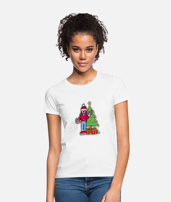 Santa T-Shirts - Miss Christmas - Women's T-Shirt white