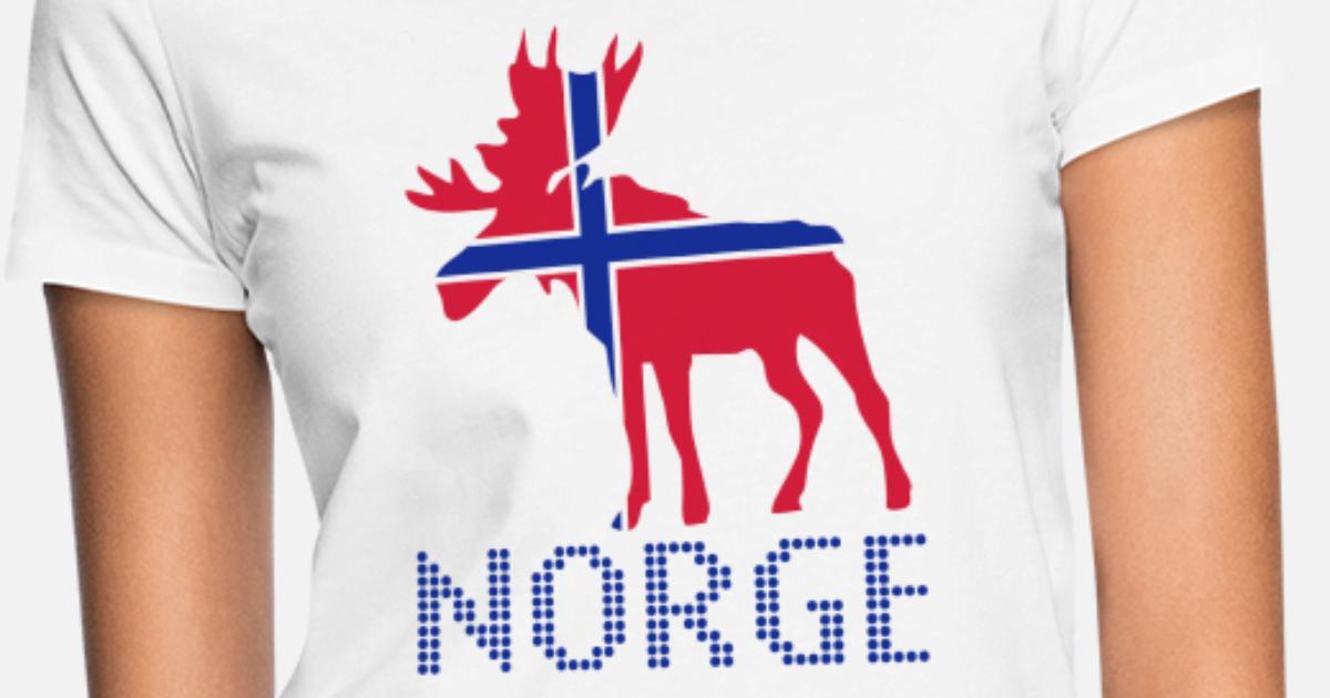 9429d0f5b Moose, Elche, Norge, Noreg, Norway, Norwegen, Flags, Flaggen, Länder,  countries, eushirt.com T-skjorte for kvinner | Spreadshirt