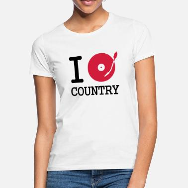 Stereo I dj / play / listen to country - T-shirt dam