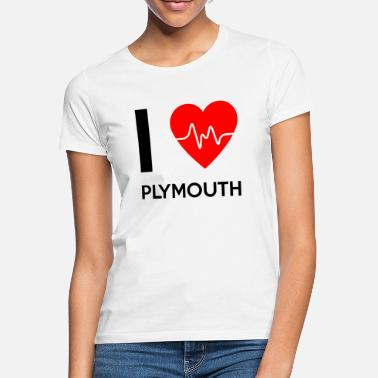 Plymouth I Love Plymouth - I love Plymouth - Women's T-Shirt