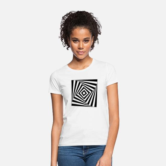 Square T-Shirts - rotating rectangle - Women's T-Shirt white