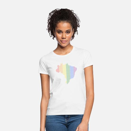 Country T-Shirts - Pride Country Brazil - Women's T-Shirt white