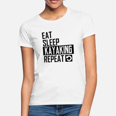 Mens Shirt Womens Shirt Eat Sleep Kayaking Repeat Tee Shirt