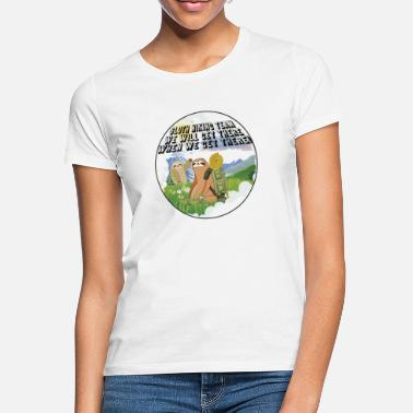 Sloth hiking team round - Women's T-Shirt