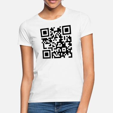 Pinda S its_peanut_butter_jelly_time_qrcode_1c - Vrouwen T-shirt