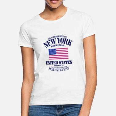 New York New York - United States Flag - T-shirt Femme