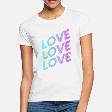 Love With Heart LOVE SHIFT GRADIËNT BLAUW PAARS - Vrouwen T-shirt