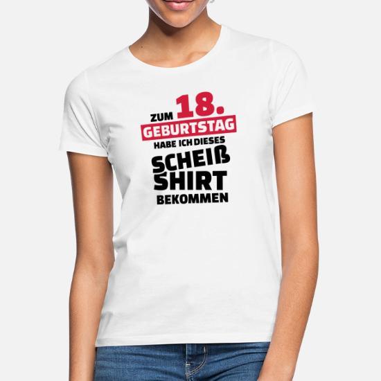 38806e431a769a 18 Geburtstag Frauen T-Shirt | Spreadshirt