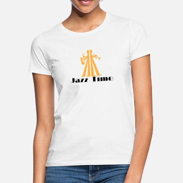 Saxeophonist Jazz Time musician with saxophone and trumpet - Women's T-Shirt