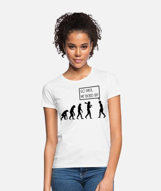 Citat T-shirts - evolution - T-shirt dam vit