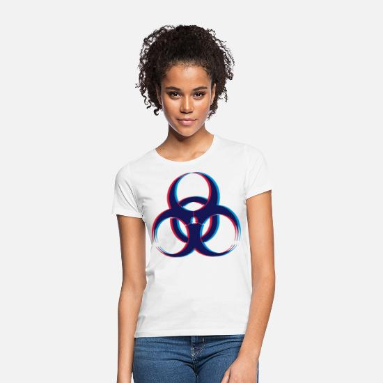 3d T-Shirts - Biohazard 3D - Women's T-Shirt white
