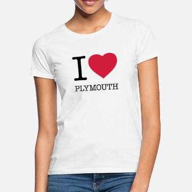 Plymouth I LOVE PLYMOUTH - T-shirt dame