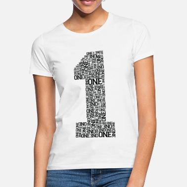 Typography Number One (Typography) - Camiseta mujer