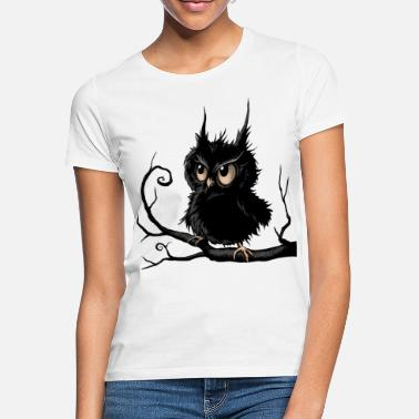 Cute Grumpy Fogy Owl - Women's T-Shirt