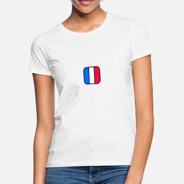Nationalflag T-shirt med det franske nationalflag - T-shirt dame