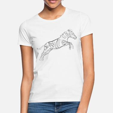 Line Drawing Zebra - one line drawing - Women's T-Shirt