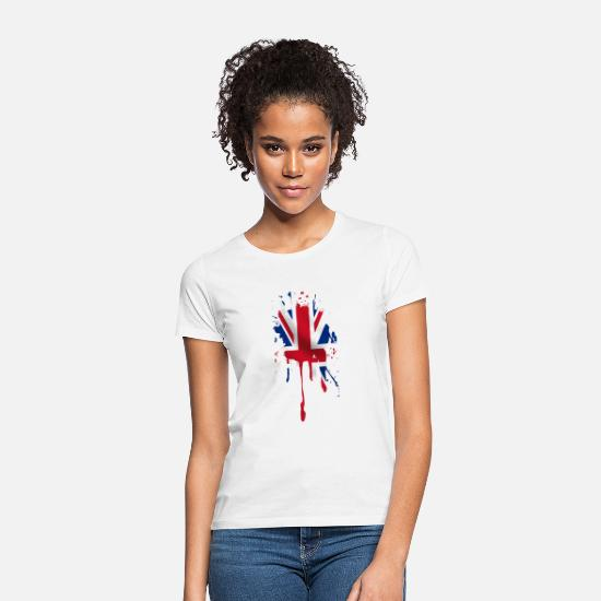 Country T-Shirts - union jack - Women's T-Shirt white