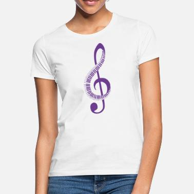 Note Treble clef and piano - Women's T-Shirt