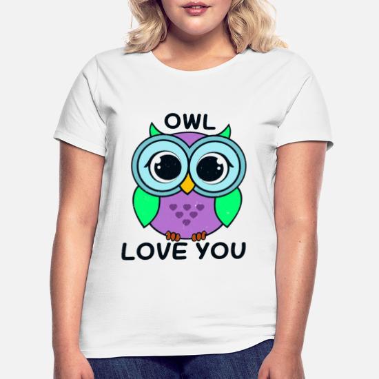8 Bits Hibou T-shirt Femmes Fun Shirt Pixel Art Motif Mignon Cadeau D/'Anniversaire Idée