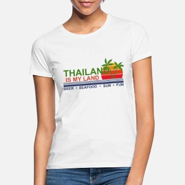 Thaïlande manger dormir boisson Thaïlande T SHIRT personnalisé
