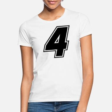 Race Race number 4 black, number four - Women's T-Shirt
