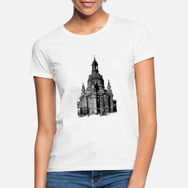 1910 Frauenkirche omkring 1910 - T-shirt dame