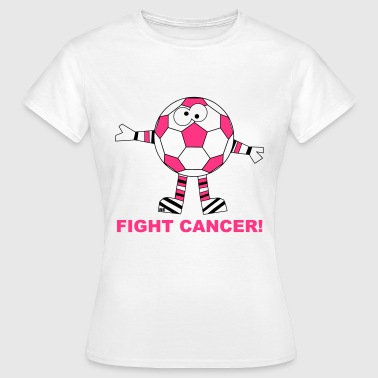 Fuck Fight Cancer Krebs Brustkrebs Fussball Ball - Women's T-Shirt
