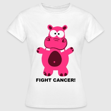 Fuck Fight Cancer Krebs Brustkrebs Nilpferd Hippo  - Frauen T-Shirt