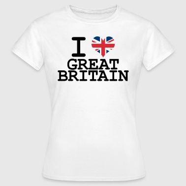 i love Great Britain - Women's T-Shirt